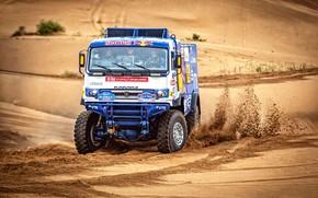Picture Sand, Machine, Truck, Race, Master, Russia, Kamaz, Rally, KAMAZ-master, KAMAZ, The front, The roads, Best, …