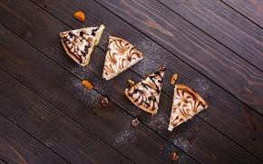 Picture pie, cream, wood, cakes, sweet