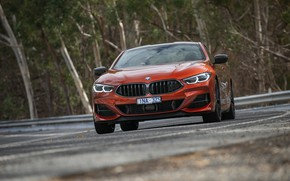 Picture coupe, BMW, 2018, on the road, 8-Series, 2019, dark orange, M850i xDrive, Eight, G15