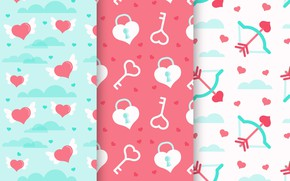 Picture background, Love, texture, hearts, pattern, Heart