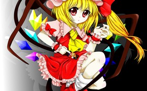 Picture girl, crystals, Touhou, Flandre Scarlet, Touhou, Touhou
