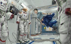 Picture Girl, The suit, Space station