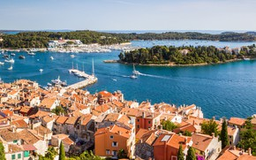 Picture sea, home, Croatia, Rovinj