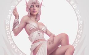 Picture girl, World of Warcraft, Warcraft, blizzard, wow, art, blood elf, elf