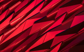Picture fragments, red, black