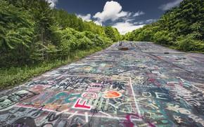 Picture Graffiti, Pennsylvania, Highway