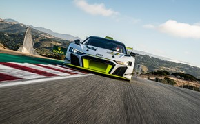 Picture Audi, Speed, Asphalt, Track, Audi R8, GT2, LMS, 2020, Audi R8 LMS GT2