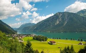 Picture mountains, home, Austria, village, Alps, Tyrol