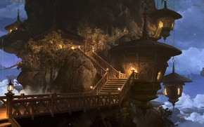 Picture rock, lights, ladder, the rise, The Quiet nest