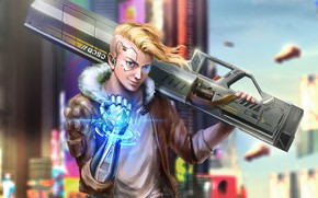 Picture weapons, Warrior, guy, League Of Legends, Ezreal