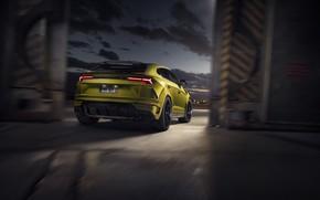 Picture lights, Lamborghini, rear view, crossover, Urus, Novitec, 2019