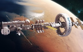 Picture Station, Planet, Space, Fantasy, Art, NASA, Space, Art, Spaceship, Station, Fiction, Rendering, Illustration, Spaceship, Sci-Fi, …