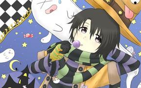 Wallpaper hat, art, girl, Form voice, You No Katachi, Form Voice