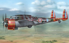 Picture The plane, Air force of France, Air force, Breguet Br.692AB2, double French attack