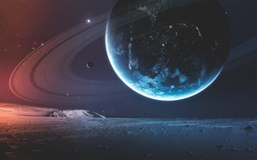 Picture Stars, Planet, Space, Surface, Art, Stars, Space, Art, Ring, Satellite, Double, Planet, Surface, Rings, Satellite, …