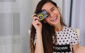 Picture girl, photo, young, smile, camera, beautiful, Russian, Leona Mia, 18, You