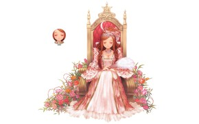 Picture girl, white background, Princess, by izza chan