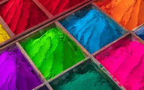 Picture paint, India, powder, the festival of Holi