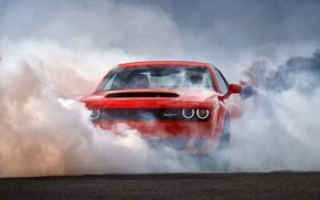 Picture Muscle, Dodge Challenger, Smoke, SRT, Demon