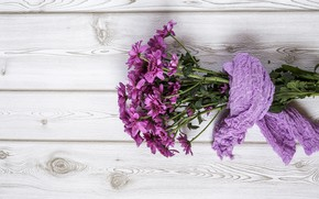 Picture flowers, bouquet, chrysanthemum, wood, flowers, purple