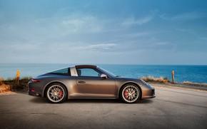 Picture coast, Porsche, 4x4, Biturbo, Targa, special model, 911 Targa 4 GTS, Exclusive Manufaktur Edition
