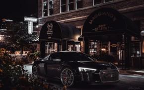 Picture Night, The city, Machine, Audi R8, Car, Black, Sports car, Transport & Vehicles, Final Fantasy …