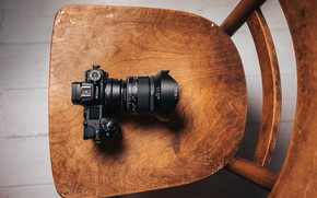 Picture camera, chair, Irix 11mm f/4 Firefly Lens, Nikon Z7