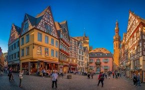 Picture people, building, home, Germany, area, Germany, Cochem, Cochem, Marketplace, Rhineland-Palatinate