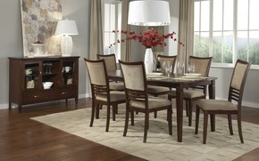 Picture table, chairs, interior, dining room, serving