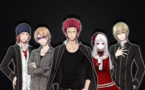 Picture background, characters, Project Key, K Project