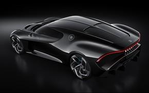 Picture machine, Bugatti, lantern, drives, stylish, hypercar, The Black Car