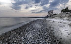 Picture sea, stones, shore