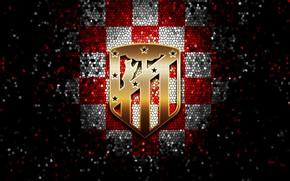 Picture wallpaper, sport, logo, football, La Liga, glitter, Atletico Madrid, checkered