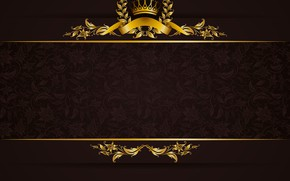 Picture retro, gold, texture, ornament, vintage