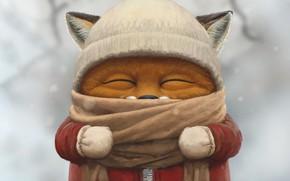 Picture Fox, Winter, Figure, Fox, Art, Art, Winter, Cub, Illustration, Fox, Fox, Dmitriy Barbaruk, by Dmitriy …