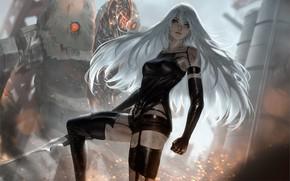 Picture girl, NieR Automata, YoRHa Type A No 2