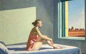 Picture Edward Hopper, Morning Sun, 1952