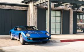 Picture Lamborghini, Blue, Miura