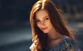 Picture girl, photo, model, redhead, sunlight, portrait, depth of field, MWL Photo, Aleksandra Girskaya, Alexandra Girskaya