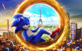 Picture fiction, fantasy, poster, Sonic the Hedgehog, Sonic movie