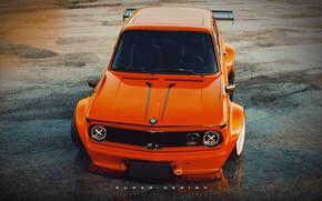 Picture Auto, Retro, BMW, Machine, Tuning, Style, Orange, Car, 2002, Rendering, Coupe, BMW 2002 Turbo, BMW …