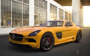 Picture Mercedes-Benz, Auto, Yellow, Machine, Mercedes, SLS AMG, AMG, Rendering, Black Series, Mercedes-Benz SLS AMG, by …