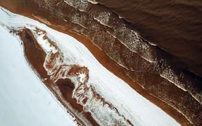 Picture winter, sea, shore