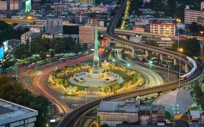 Picture night, the city, building, road, ring, Thailand, Thailand, Bangkok