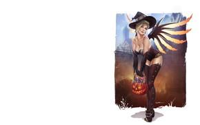 Picture art, Halloween, Krystopher Decker, Halloween Mercy