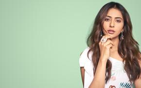 Picture girl, eyes, smile, beautiful, model, lips, face, hair, pose, indian, actress, celebrity, bollywood, makeup, Rakul …