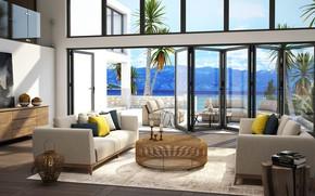 Picture Villa, interior, terrace, living room