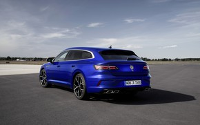 Picture blue, Volkswagen, back, universal, Shooting Brake, 2020, Arteon, Shooting Brake R, Arteon R
