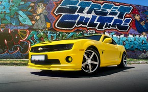 Picture Chevrolet, Muscle, Camaro, Car, Yellow