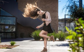 Picture look, girl, the sun, pose, hair, legs, Fernanda Irigoyen